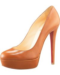 Christian Louboutin Bianca Leather Platform Pump - Lyst