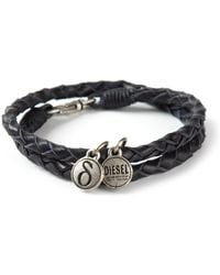 Diesel Double Braided Bracelet - Lyst