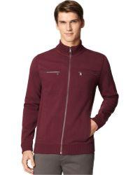 Calvin Klein Full-Zip Solid Core Fleece Jacket - A Macy'S Exclusive - Lyst