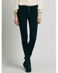 Free People Seamed Ponte Skinny - Lyst