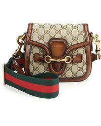 Gucci Lady Web Original Gg Canvas Shoulder Bag - Lyst