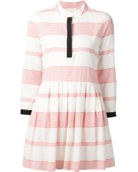 Band of Outsiders Band-Collar Striped Dress - Lyst