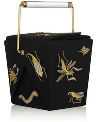Charlotte Olympia Take Me Away Embroidered Satincrepe Clutch - Lyst