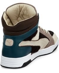 Alexander McQueen x Puma Slipstream Calf-hair High-top Sneaker - Lyst