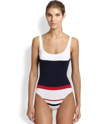 Lahco - One-piece Valencia Striped Swimsuit - Lyst
