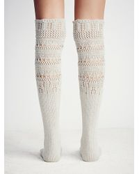 Free People Womens Hold You Closer Pointelle Sock - Gray