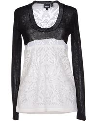 Just Cavalli White Jumper - Lyst
