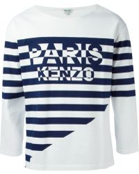 Kenzo Striped Logo T-Shirt - Lyst