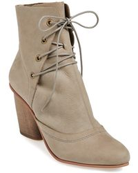 J SHOES 'Sadie' Leather Bootie - Lyst