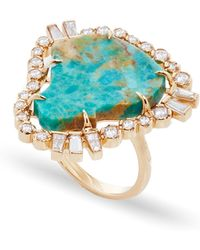 Jordan Alexander - Mo Exclusive: One Of A Kind 18k Rose Gold Diamond And Turquoise Ring - Lyst