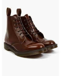 Dr. Martens Men'S Tan Boanil Brush Leather Arthur Boots brown - Lyst