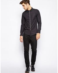 Izzue - Shirt With Studs - Lyst