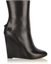 Givenchy Mina Polished-leather Wedge Boots - Lyst
