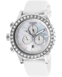 Nixon Womens 42-20 Chrono White Snake Skin and Mop Dial - Lyst