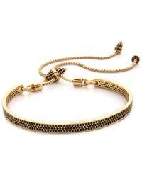 Eddie Borgo - Pave Id Toggle Bracelet - Gold - Lyst
