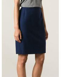 Yves Saint Laurent Vintage Classic Pencil Skirt - Lyst