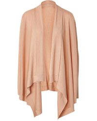 Donna Karan New York Cashmere-Blend Draped Front Cardigan - Lyst