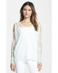 Elie Tahari Sparkling Burnout Sweater - Lyst