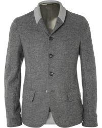 Alexander McQueen Slim-fit Contrast-trim Wool Blazer - Lyst