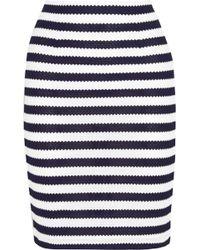 Diane von Furstenberg Walda Striped Knitted Cotton Pencil Skirt - Lyst