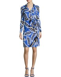 Diane von Furstenberg New Jeanne Long-Sleeve Jersey Wrap Dress - Lyst
