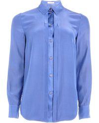 Matthew Williamson Forget-Me-Not Blue Silk Shirt - Lyst