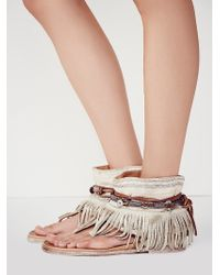 Free People Womens Wonder Land Fringe Sandal - Lyst