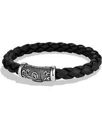 David Yurman Waves Woven Rubber Bracelet 8mm - Lyst