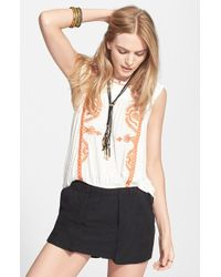 Free People 'Dos Segundos' Embroidered Top white - Lyst