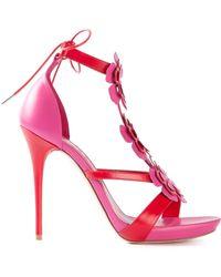 Alexander McQueen Appliqué Flower Sandals - Lyst