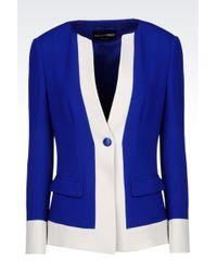 Emporio Armani One Button Jacket - Lyst