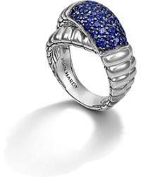 John Hardy Bedeg Cross-Over Ring blue - Lyst