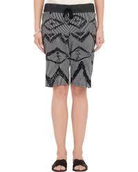 Baja East - Ikat Jacquard Sweater Shorts - Lyst
