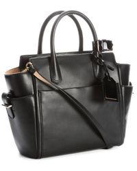 Reed Krakoff Black Leather Convertible Top Handle Bag - Lyst