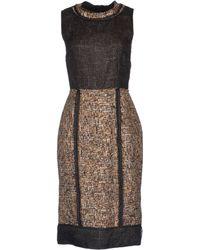D&G Black Kneelength Dress - Lyst