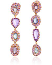 "Shawn Ames - One-Of-A-Kind ""Signature Sucre"" Pink And Lavender Sapphire Earrings - Lyst"