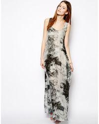 Denham Silk Printed Maxi Dress - Lyst