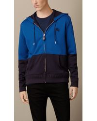 Burberry Colour Block Hooded Top - Lyst