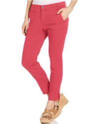 Calvin Klein Jeans Abbreviated Crop Straight-Leg Jeans - Lyst