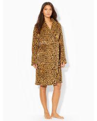 Lauren by Ralph Lauren Leopard-print Shawl Robe - Lyst