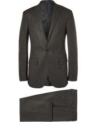 Polo Ralph Lauren Grey Slim Fit Chalk Striped Wool Suit - Lyst