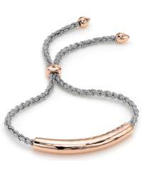 Monica Vinader Esencia 18Ct Rose Gold-Plated Friendship Bracelet - For Women - Metallic