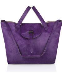 Meli' Melo' Thela Bag Purple & Taupe - Lyst