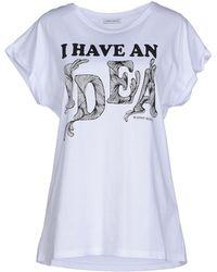 Frankie Morello T-Shirt white - Lyst