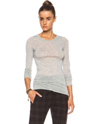 Enza Costa Cashmere Bold Crew Sweater - Lyst
