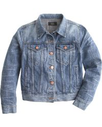 J.Crew Petite Denim Jacket In Tyler Wash - Lyst