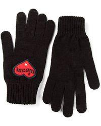 DIESEL Logo Patch Gloves - Black