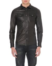 Diesel Sonora Leather Shirt - Lyst