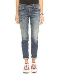 R13 Japanese Relaxed Skinny Jeans  Dark Wash - Lyst