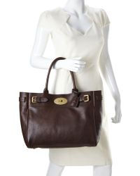Mulberry Chocolate Bayswater Tote - Lyst